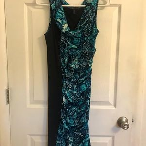 BCBG snakeskin pattern, drop-dead sexy curvy dress
